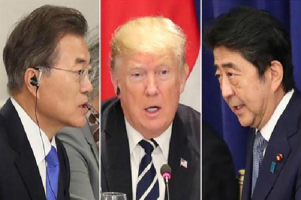 Trump điện đàm phút chót với Abe, Moon trước họp thượng đỉnh lịch sử