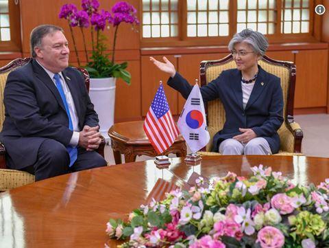 Ngoại trưởng Hàn Quốc Kang Kyung-wha hội đàm cùng Ngoại trưởng Mỹ Mike Pompeo