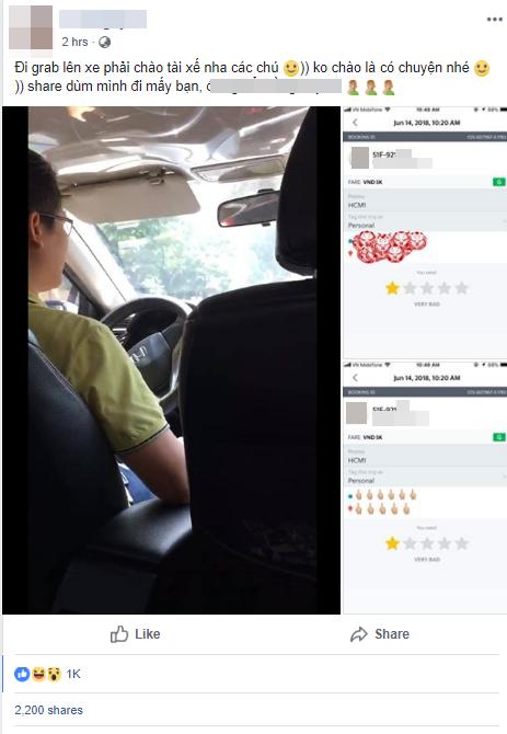 Toàn bộ sự việc tranh cãi giữa nam tài xế và vị khách được chia sẻ lên mạng xã hội khiến nhiều người xôn xao. (Ảnh chụp màn hình)
