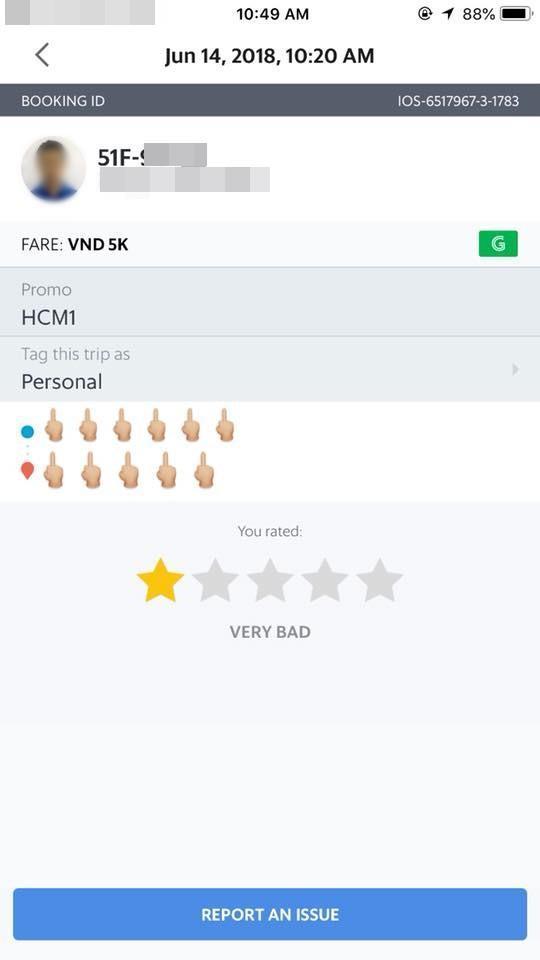 Chuyến hành trình của nam tài xế bị đánh giá 1 sao sau khi xảy ra tranh cãi với nữ hành khách