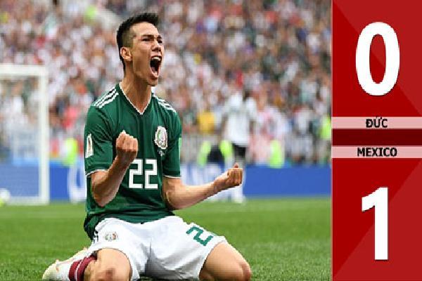 Đức 0-1 Mexico (Bảng F - World Cup 2018)