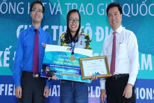 Nữ sinh duy nhấtđi thi Vô địch thiết kế đồ họa thế giới 2018