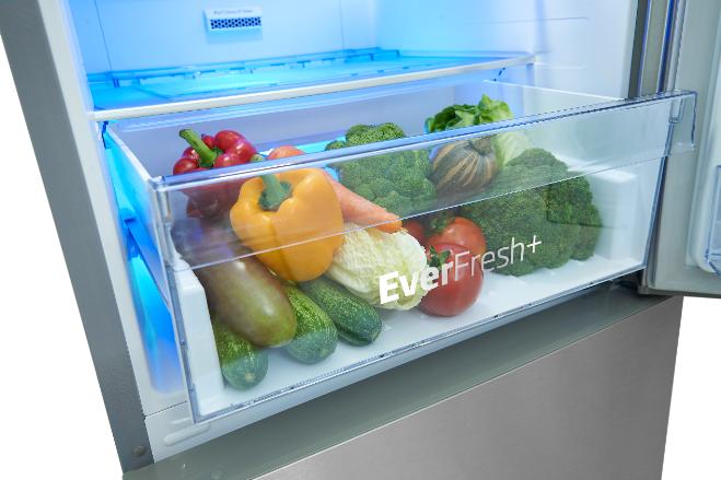Người dùng nên chú ý dự trữ rau củ quả trong ngăn chuyên dụng, có thể sử dụng tủ lạnh có khả năng giữ ẩm 90- 95% để duy trì độ ẩm, chất dinh dưỡng.