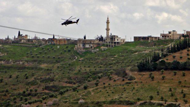 Trực thăng tấn công T129 ATAK của Thổ Nhĩ Kỳ hoạt động tại Afrin ngày 2/3/2018