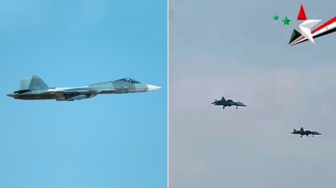 Hình ảnh Su-57 hoạt động tại Syria