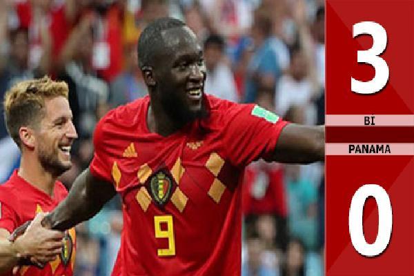 Bỉ 3-0 Panama (Bảng G - World Cup 2018)