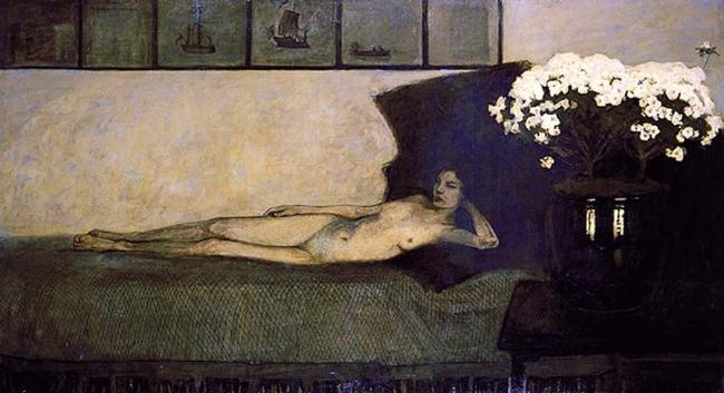 Bức White Azaleas của Romaine Brooks