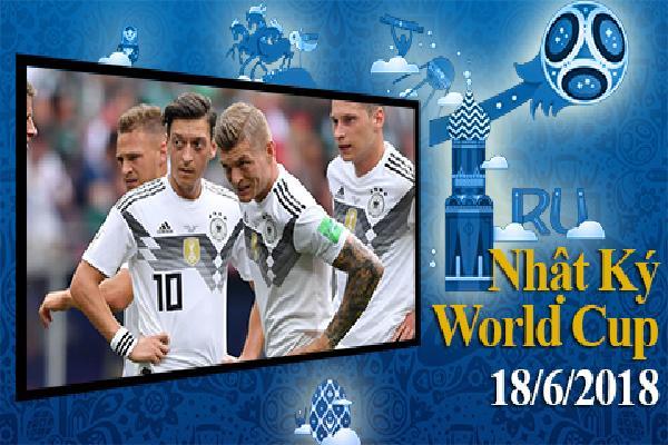 Nhật ký World Cup 18/6: Đức, Brazil thi nhau gây thất vọng