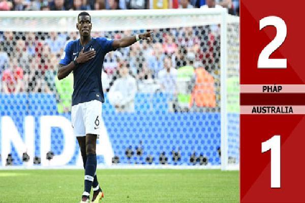 Pháp 2-1 Australia (Bảng C - World Cup 2018)