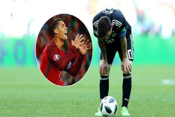 Sự giống nhau kỳ lạ giữa Messi và Ronaldo khi đối đầu với Iceland