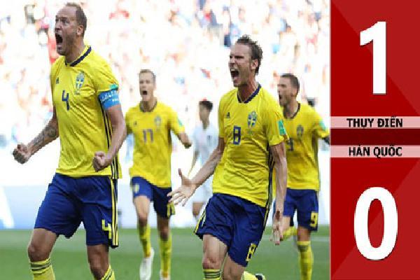 Thụy Điển 1-0 Hàn Quốc (Bảng F - World Cup 2018)