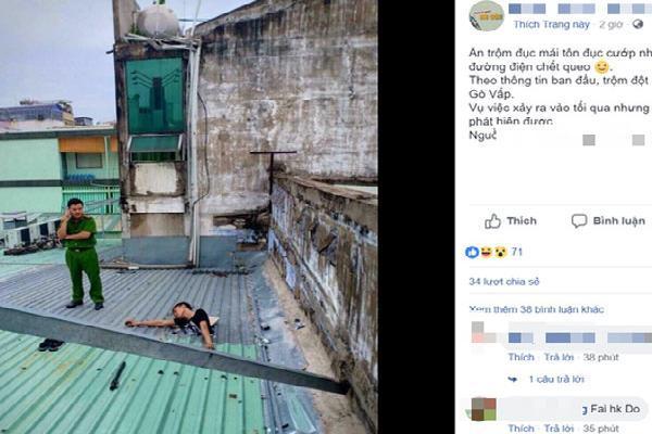 TP.HCM: Sự thật tên trộm đột nhập ngân hàng bị điện giật tử vong ngay trên mái nhà khiến cư dân mạng xôn xao