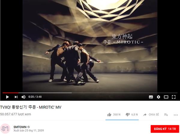 Cuối cùng MV Mirotic cũng cán mốc 50 triệu view.