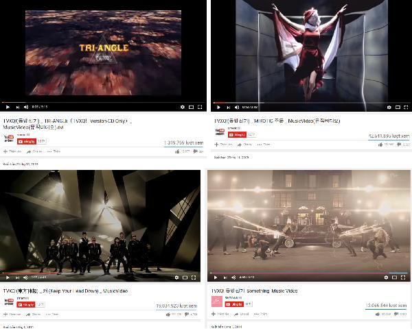 TVXQ có lượt view thuộc nhóm