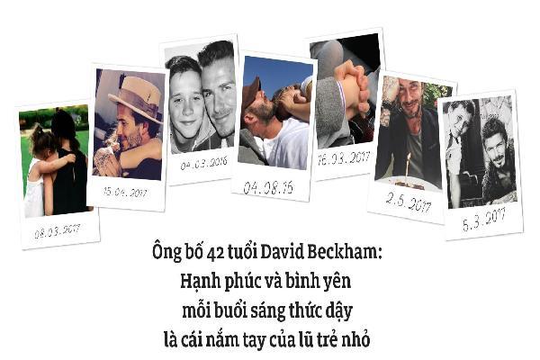 Ông bố 42 tuổi David Beckham: Hạnh phúc và bình yên mỗi sáng thức dậy là cái nắm tay của lũ trẻ nhỏ