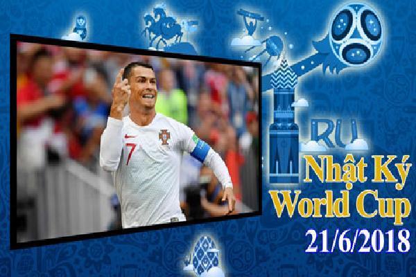 Nhật ký World Cup 21/6: Ronaldo tiễn Morocco về nước sớm