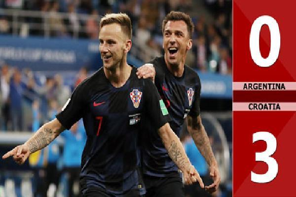 Argentina 0-3 Croatia (Bảng D - World Cup 2018)