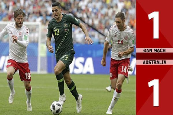 Đan Mạch 1-1 Australia (Bảng C - World Cup 2018)