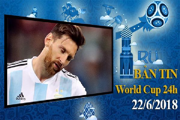 Nhật ký World Cup 22/6: Đồng đội tin Messi sắp chia tay Argentina