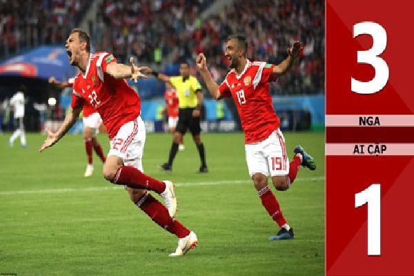 Nga 3-1 Ai Cập (Bảng A - World Cup 2018)