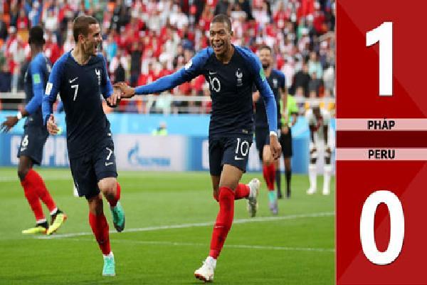 Pháp 1-0 Peru (Bảng C - World Cup 2018)