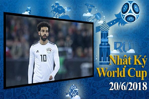 Nhật ký World Cup 20/6: 99% Ai Cập chia tay World Cup