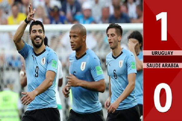 Uruguay 1-0 Saudi Arabia (Bảng A - World Cup 2018)