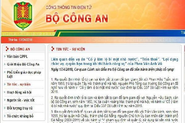 Khởi tố, bắt tạm giam cựu Phó tổng cục trưởng Bộ Công an Phan Hữu Tuấn