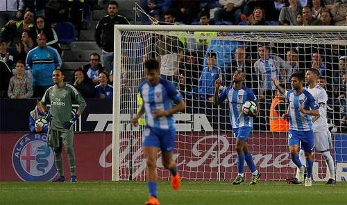 Malaga sắp xuống hạng hai do mới có 17 điểm và xếp cuối bảng sau 32 vòng.