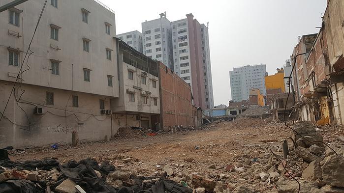 Những gì còn lại của tòa chung cư 727 Sài Gòn (Ảnh: Internet)