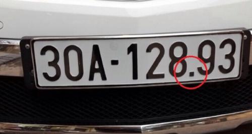 Dấu chấm trên biển số xe 5 số có nhiều ý nghĩa bất ngờ