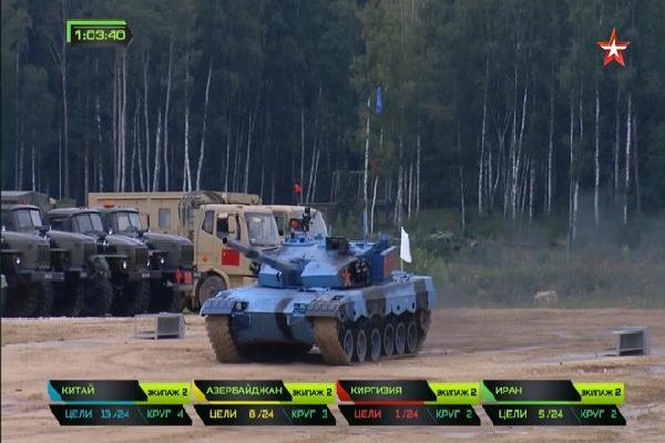 Xe tăng Type-96B số 607 Trung Quốc 'phản chủ' tại Tank Biathlon 2018: Suýt gây thảm họa