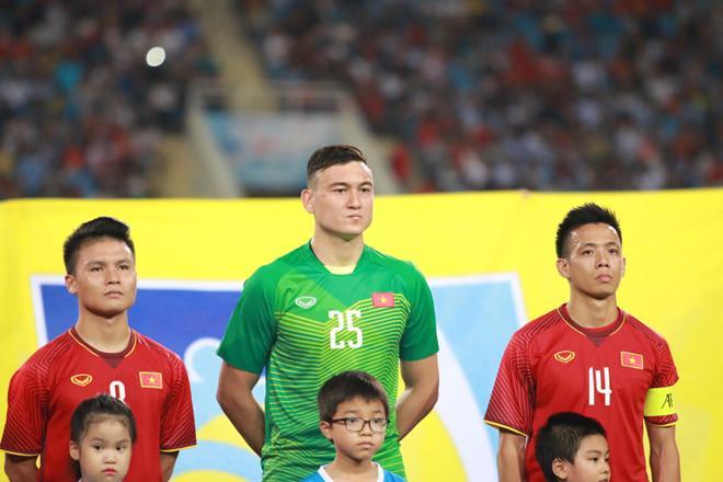 Thủ môn Đặng Văn Lâm (số 25) bị loại khỏi Olympic Việt Nam.