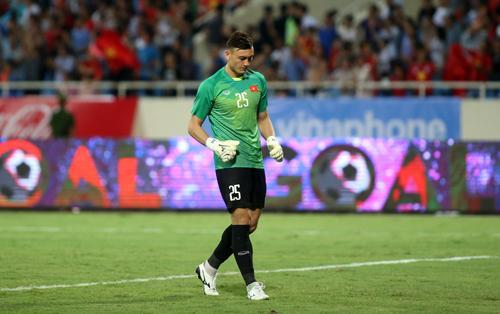 Đặng Văn Lâm đã thi đấu trọn vẹn 90 phút trong trận ra quân thắng Palestine 2-1 ở giải giao hữu U23 quốc tế. Ảnh: Lâm Thỏa.