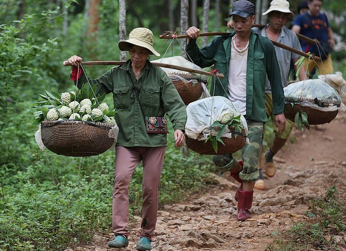 Quả na Chi Lăng (Lạng Sơn) bắt đầu chín vào vụ, na chủ yếu là trồng trên núi đá. Hàng ngày, người dân ở Chi Lăng, Hữu Lũng, Cai Kinh, Hòa Lộc nườm nượp vận chuyển na về chợ tiêu thụ.