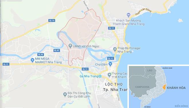 Xã Vĩnh Ngọc, TP Nha Trang, Khánh Hòa. Ảnh: Google Maps.