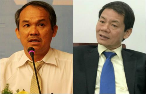 Chủ tịch Hoàng Anh Gia Lai, Đoàn Nguyên Đức (bên trái) và Chủ tịch Thaco, Trần Bá Dương.