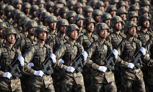 Binh sĩ Trung Quốc trong cuộc duyệt binh năm 2017. Ảnh: SCMP.