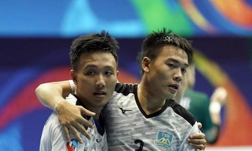 Thái Sơn Nam cuối cùng cũng phá dớp, vào chung kết giải châu Á. Ảnh: AFC.