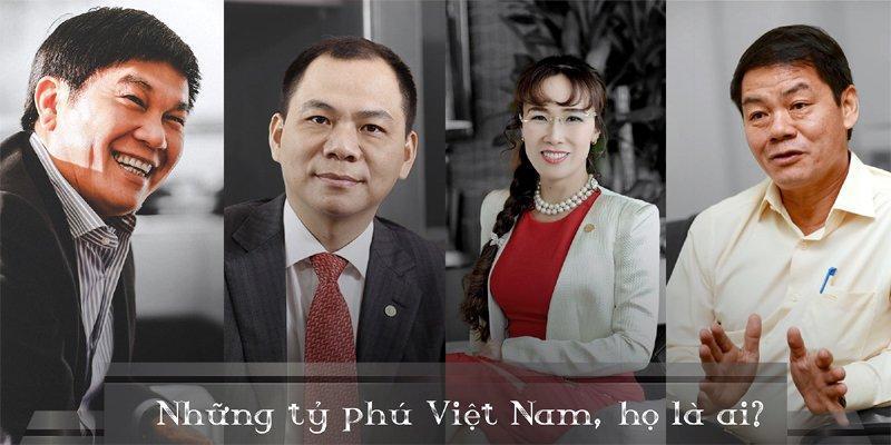 Các đại gia Trần Đình Long, Phạm Nhật Phượng, Nguyễn Thị Phương Thảo, Trần Bá Dương (từ trái qua phải).