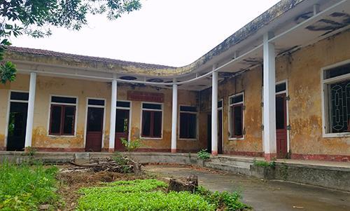 Trạm Y tế cũ của phường Thạch Linh, nơi lãnh đạo phường đề xuất cải tạo để làm lớp học cho các cháu. Ảnh: Đức Hùng