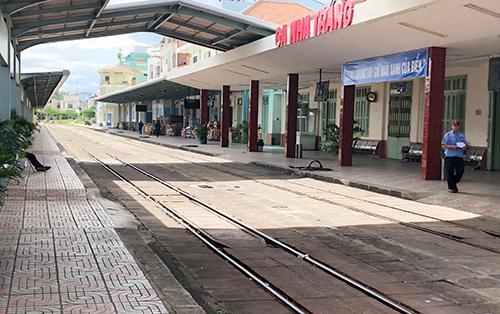 Ga Nha Trang, nơi hai tàu hỏa suýt tông nhau. Ảnh: Xuân Ngọc.