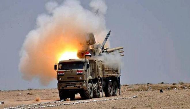 Hệ thống phòng không Pantsir-S1 của Quân đội Syria. Ảnh: South Front