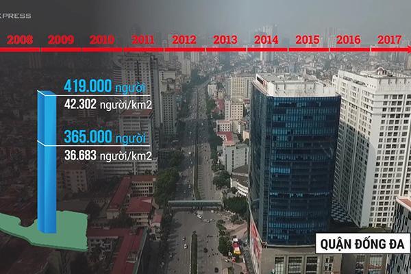 Nhà cao tầng xây ồ ạt ở trung tâm, Hà Nội giãn dân thất bại