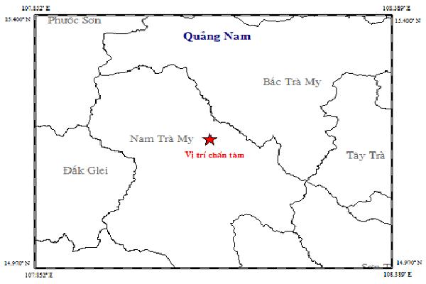 Quảng Nam: Xuất hiện động đất lúc rạng sáng