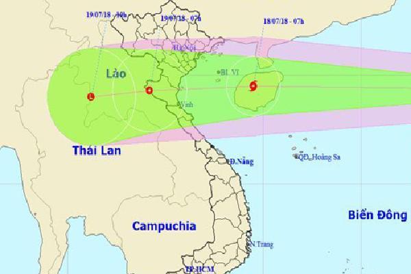 Bão Sơn Tinh mạnh cấp 8 vào biển Đông