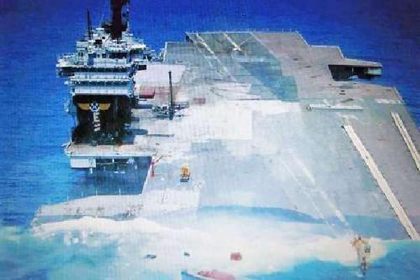 Siêu tàu sân bay bị đánh chìm duy nhất của Mỹ năm 2005