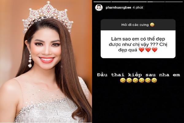 Fan hỏi: 'Làm sao được đẹp như chị' và câu trả lời của Phạm Hương hứng nguyên 'rổ gạch đá'