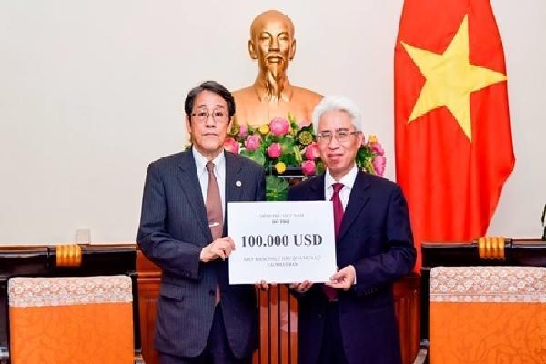 Việt Nam hỗ trợ 100.000 USD giúp Nhật khắc phục hậu quả mưa lũ