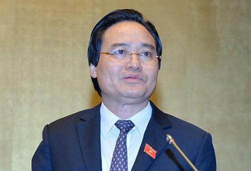 Bộ trưởng Phùng Xuân Nhạ. Ảnh: Quốc hội.